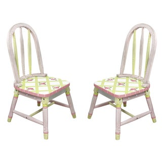 Fantasy Fields Crackled Rose Chairs (Set of 2)