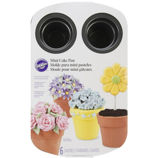 Mini Flower Pot Cake Pan6 Cavity 14inX17in
