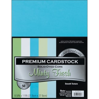 Core'dinations Value Pack Cardstock 8.5inX11in 50/PkgMinty Fresh Smooth