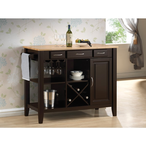 Coaster Kitchen Island with Butcher's Block Countertop