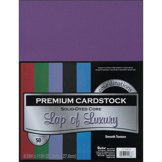 Core'dinations Value Pack Cardstock 8.5inX11in 50/PkgLap Of Luxury Smooth