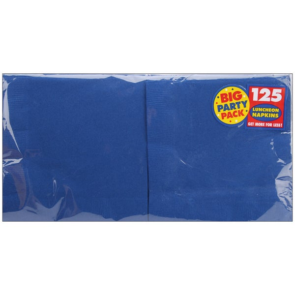 Big Party Pack Luncheon Napkins 6.5inX6.5in 125/PkgBright Royal Blue
