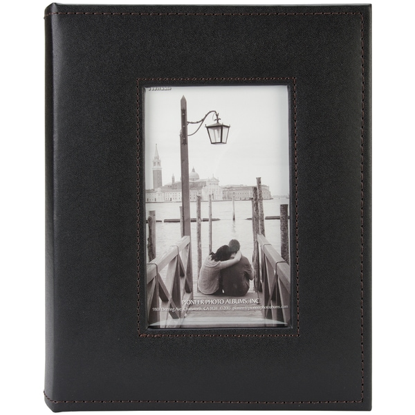 Sewn Frame Photo Album 7inX9in 200 PocketsBlack