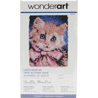 Wonderart Latch Hook Kit 15inX20inPrize Kitty