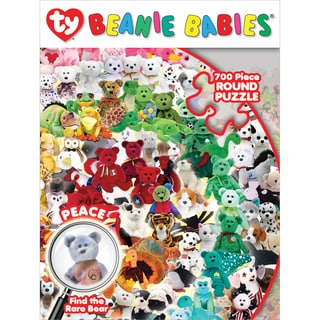Jigsaw Puzzle Ty Beanie Baby 700pc 24inX24in RoundFind The Peace