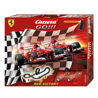 Carrera GO Red Victory 1:43 Scale Slot Car Race Set with Turbo Booster