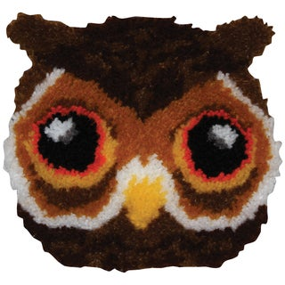 Huggables Shaped Pillow Latch Hook Kit 12inX12inOwl
