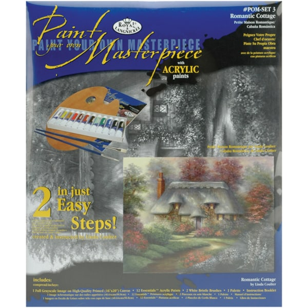 Acrylic Paint Your Own Masterpiece Kit 11inX14inRomantic Cottage