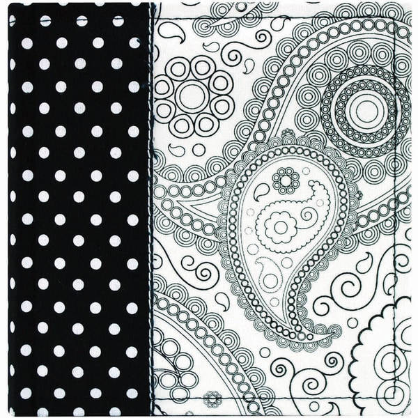 Black & White Paisely Photo Album 7.25inX7.75in 100 Pockets