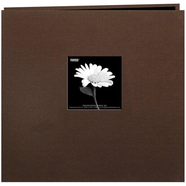 Book Cloth Cover Post Bound Album 8inX8inBrown