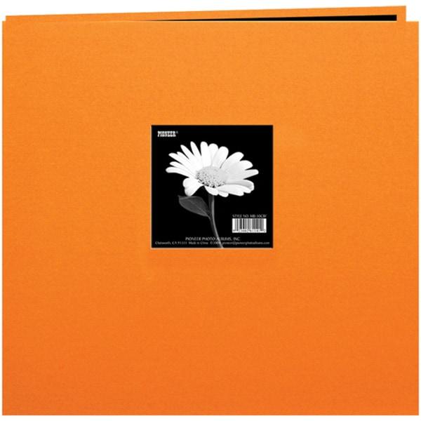 Book Cloth Cover Post Bound Album 8inX8inOrange