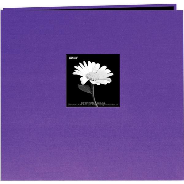Book Cloth Cover Post Bound Album 8inX8inGrape Purple