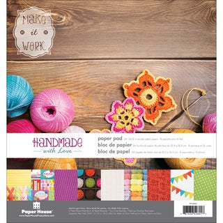 Paper House DoubleSided Paper Pad 12inX12in 24/PkgHandmade
