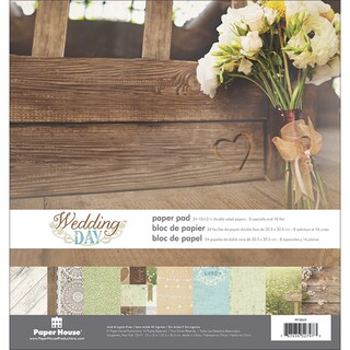 Paper House DoubleSided Paper Pad 12inX12in 24/PkgWedding Day