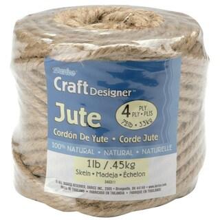 Jute Rope Spool 4Ply 1lb 135'Natural