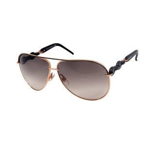 Gucci GG 4225/S Grey Gradient Lenses Gold/Black Frame Sunglasses