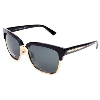 Gucci GG 4246/S Grey Gradient Lenses Black/Gold Frame Sunglasses