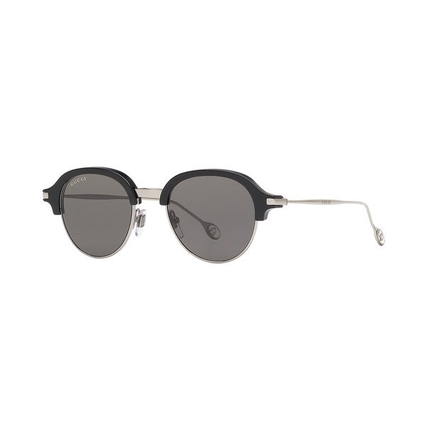 Grey Lenses Black/Silver Frame Sunglasses - Gucci GG 2259/S