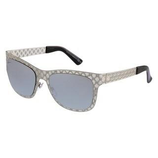 Gucci GG 4266/S Silver Mirror Lenses Silver Frame Sunglasses