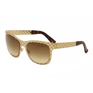 Gucci GG 4266/S Brown Gradient Lenses Gold Frame Sunglasses