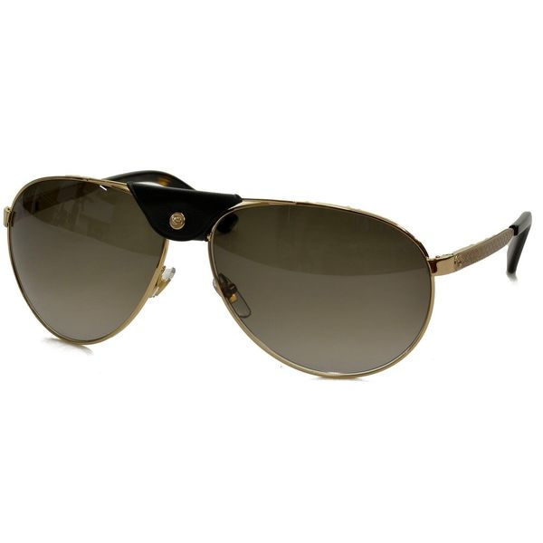 Gucci GG 2226/S Brown Gradient Lenses Gold Frame Sunglasses