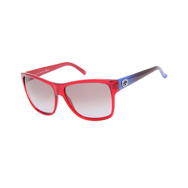 Gucci GG 3579/S Grey Lenses Red/Blue Frame Sunglasses