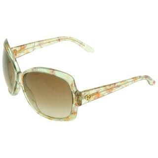 Gucci GG 3581/S Brown Gradient Lenses Multi-Color Floral Frame Sunglasses