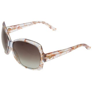 Gucci GG 3581/S Grey Gradient Lenses Multi-Color Floral Frame Sunglasses
