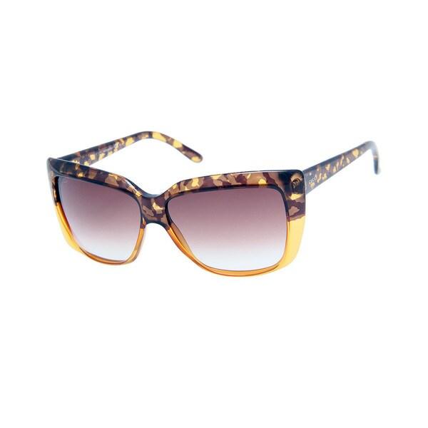 Gucci GG 3585/S Brown Gradient Lenses Brown / Honey Frame Sunglasses