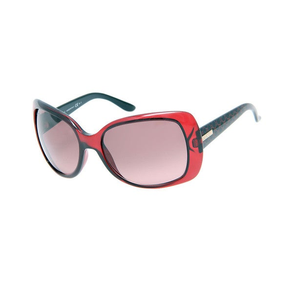 Gucci GG 3576/S Rose Lenses Red/Black Frame Sunglasses