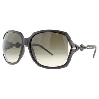 Gucci GG 3584/S Grey Gradient Lenses Black / Rose-Gold Frame Sunglasses