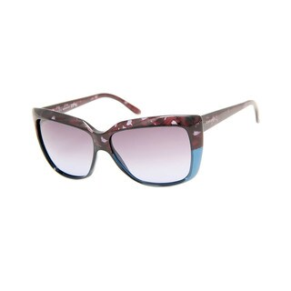 Gucci GG 3585/S Grey Gradient Lenses Blue/Purple Frame Women's Sunglasses