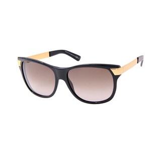 Gucci GG 3611/S Brown Gradient Lenses Black / Gold Frame Sunglasses