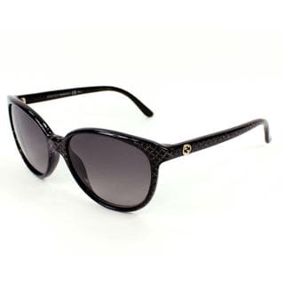 Gucci GG 3633/S Grey Gradient Lenses Black / Gold Glitter Frame Sunglasses