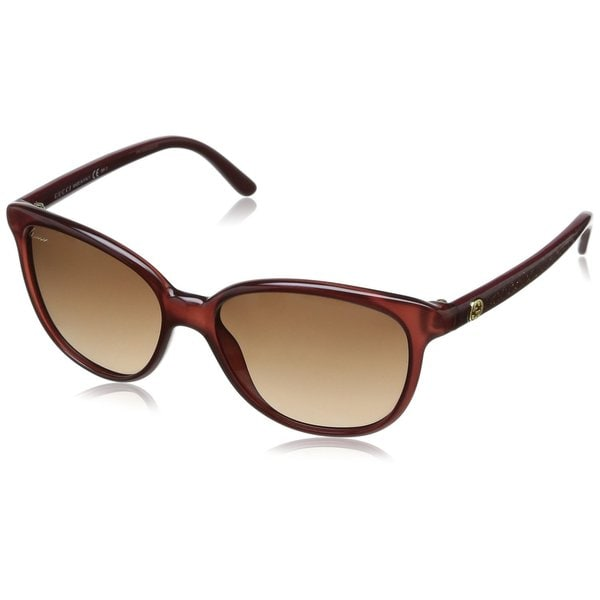 Brown Gradient Lenses Brown / Gold Glitter Frame Sunglasses - Gucci GG 3633/S