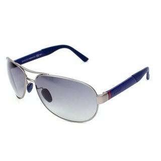 Gucci GG 2225/S Grey Gradient Lenses Silver / Blue Frame Sunglasses