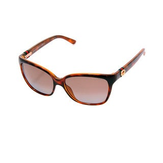 Gucci GG 3645/S Polarized Brown Gradient Lenses Tortoise Frame Sunglasses