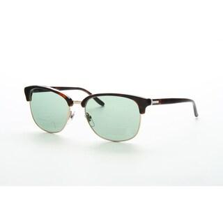 Gucci GG 2227/S Light Blue Lenses Tortoise Frame Sunglasses