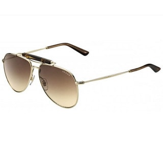 Gucci GG 2235/S Brown Gradient Lenses Gold Frame Sunglasses