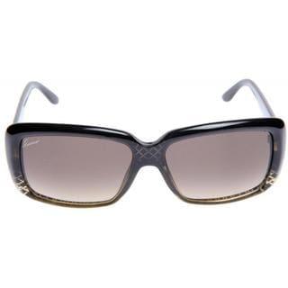 Gucci GG 3575/S Brown Gradient Lenses Designed Black Frame Sunglasses