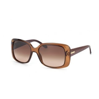 Gucci GG 3577/S Brown Gradient Lenses Translucent Brown Frame Sunglasses