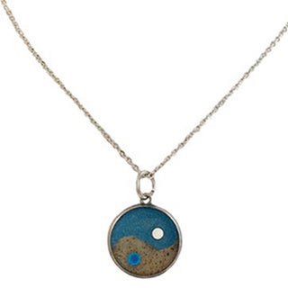 Sand and Sea/ Yin and Yang 20-inch Necklace