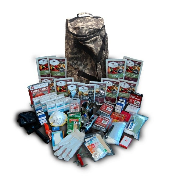 Wise Deluxe Camo Survival Backpack 2 Week Kit For 1 Person