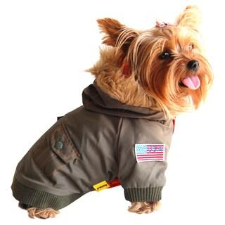 ANIMA Army Bomber Style Dog and Pet Jacket