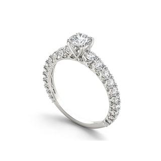 De Couer 14k Gold 1ct TDW Diamond Classic Engagement Ring (H-I)