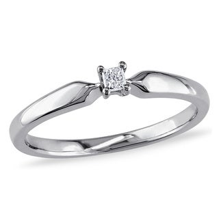 Haylee Jewels Sterling Silver Princess-cut Diamond Accent Solitaire Promise Ring