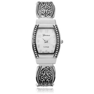 Geneva Platinum Women's Textured Cuff Watch