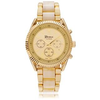 Geneva Platinum Women's Two-tone Link Watch