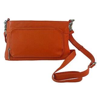 Pielino Leather Multi-Pocket Organizer Small Crossbody Bag