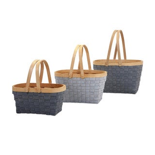 Woodrow Natural Woven Baskets (Set of 3)